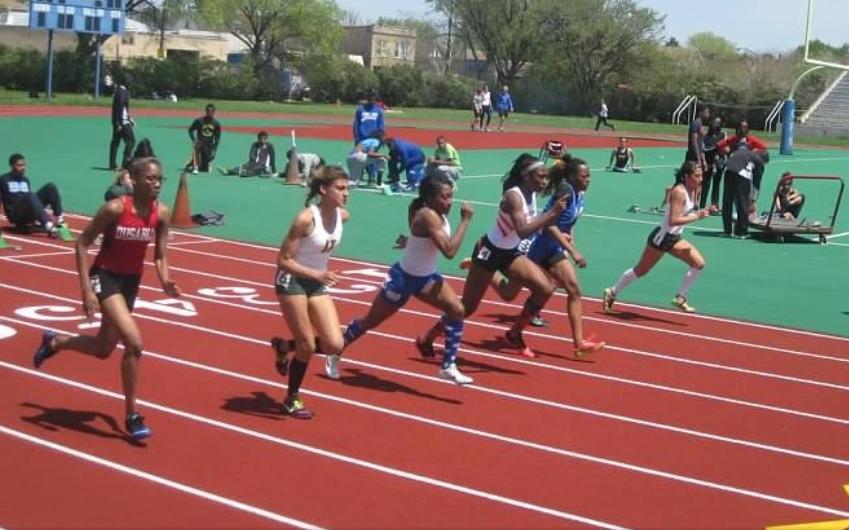 Photo of girls running.