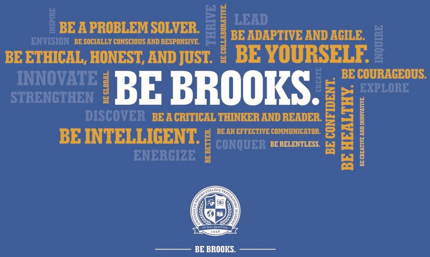 Graphic with the  Bs of Brooks.
