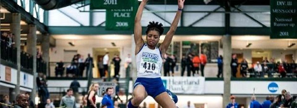 Photo of Imani Carothers jumping.