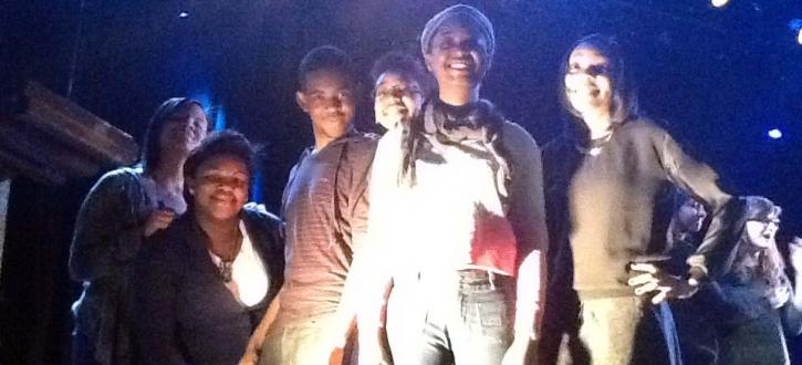 Photo of LTAB members at the competition smiling.