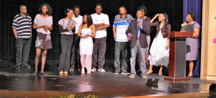 Photo of the students involved in organizing and performing at the Night of Worship organized by Brooks' G.a.S. Club.