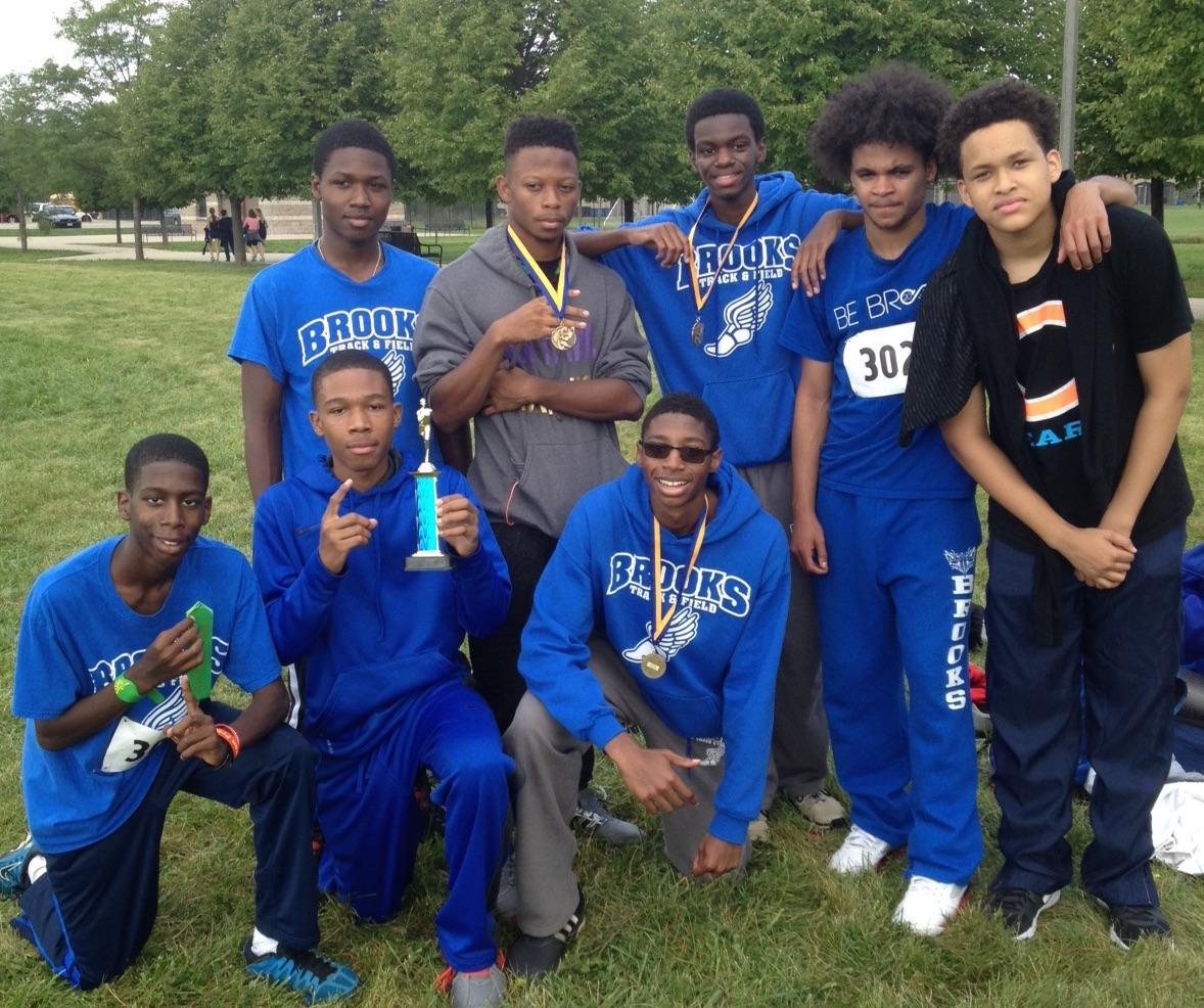 Brooks boys track team group photo