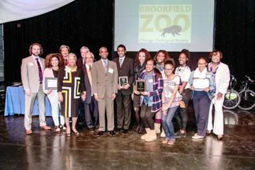 Photo of the winners with the judges.