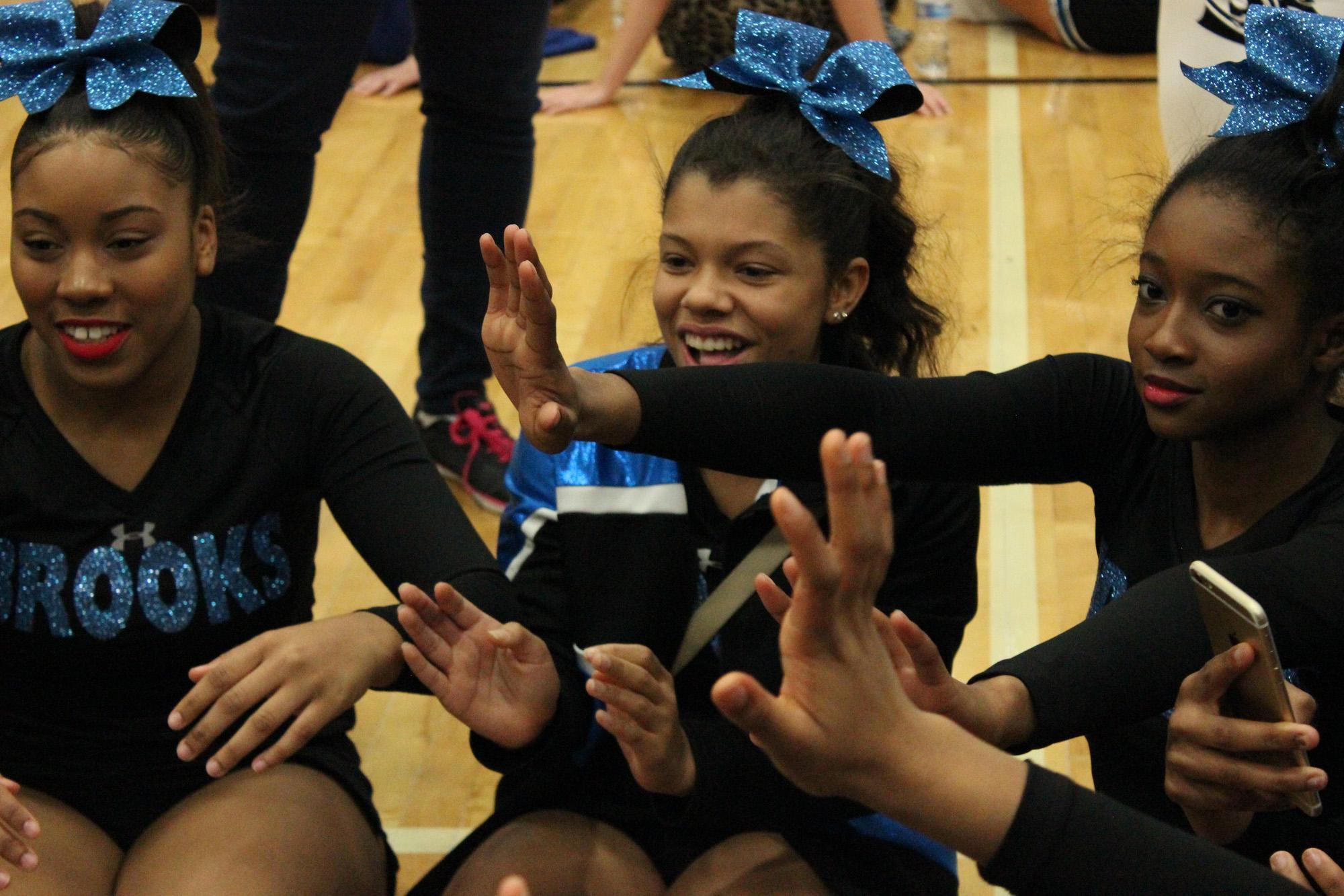 Mia Roberts (center) at the ICCA Cheerleading Invitationals