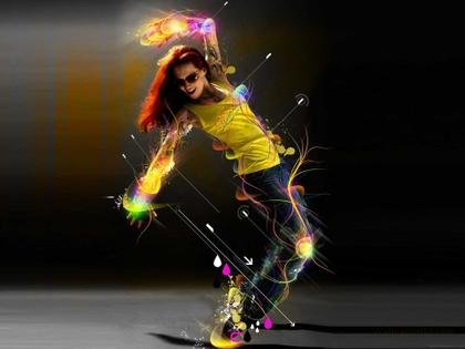 Photoshopped photo of a dancer