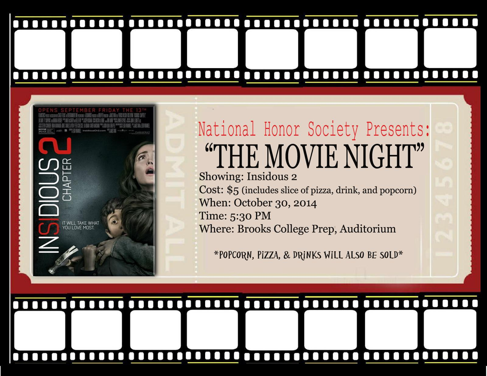 Flyer for Movie Night