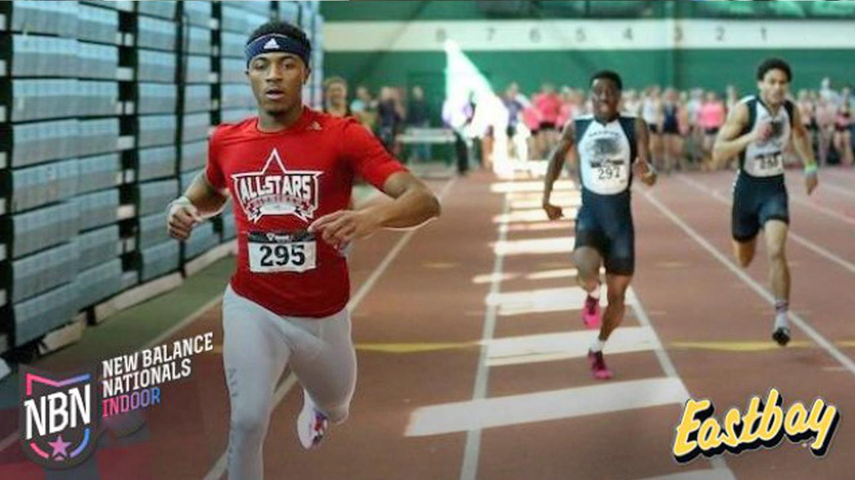 Photo of student athletes running.